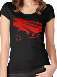 Datsun 240Z Detail - Red on black Women's Fitted Scoop T-Shirt