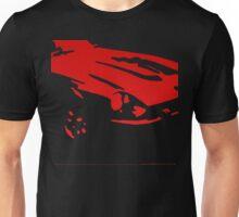 Datsun 240Z Detail - Red on black Unisex T-Shirt