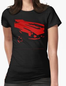 Datsun 240Z Detail - Red on black Womens Fitted T-Shirt