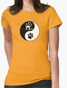 Dog Love - Ying & Yang Womens Fitted T-Shirt