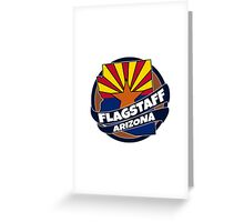 Flagstaff Arizona flag burst Greeting Card
