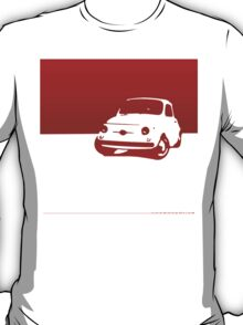 Fiat 500, 1959 - Red on cream T-Shirt