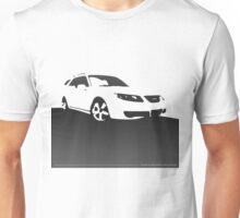 Saab 9-5, 2006 front - Black on cream Unisex T-Shirt