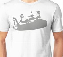 Fiat 600 Detail, 1956 - Gray on Cream Unisex T-Shirt