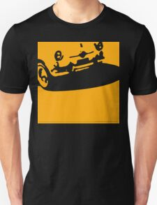 Fiat 600 Detail, 1956 - Yellow on Black T-Shirt