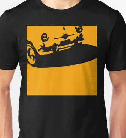 Fiat 600 Detail, 1956 - Yellow on Black Unisex T-Shirt