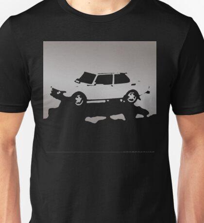 Saab 99 EMS,  1974 - Gray on black Unisex T-Shirt