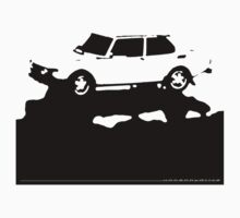 Saab 99 EMS,  1974 - Black on cream One Piece - Short Sleeve