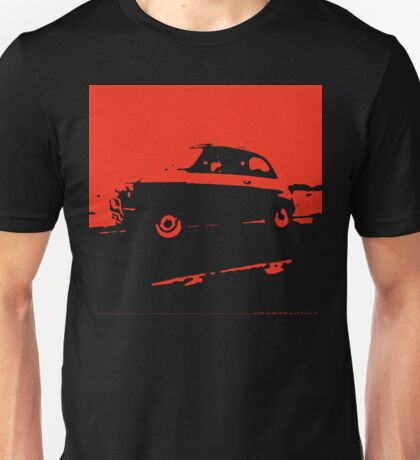 Fiat 500, 1973 - Red on charcoal Unisex T-Shirt