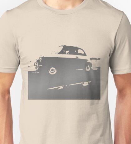 Fiat 500, 1973 - Silver gray on cream Unisex T-Shirt