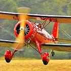 Biplane takeoff by Rod Reilly