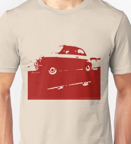 Fiat 500, 1973 - Dark red on cream Unisex T-Shirt