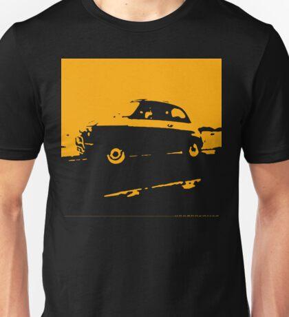 Fiat 500, 1973 - Yellow on charcoal Unisex T-Shirt