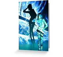 Projection Art Greeting Card