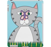 Tabby Cat and Butterfly iPad Case/Skin