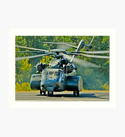Big US NAVY chopper Art Print