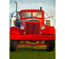 Old Big Red Truck Photographic Print