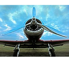 Chromed prop at dusk Photographic Print