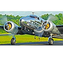 Lockheed 12a Electra Junior on taxi Photographic Print