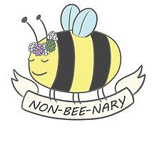 Non-bee-nary Pride Bee by levimeko