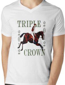 2012 Triple Crown Mens V-Neck T-Shirt