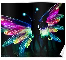 Butterfly Transformation Landscape Poster