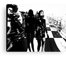 Chess Projection Art Canvas Print