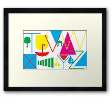 From T to Z Framed Print