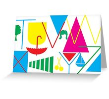 From T to Z Greeting Card
