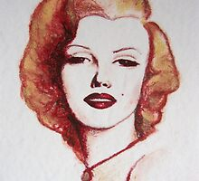 Marilyn - the lipstick girl by Midori Furze