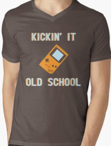 Kickin' It Old School Mens V-Neck T-Shirt