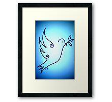 'Blue Peace Dove' Framed Print