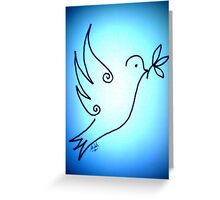 'Blue Peace Dove' Greeting Card