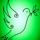 'Green Peace Dove' by Shiloh Moore