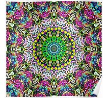 Concentric Colors Abstract Poster