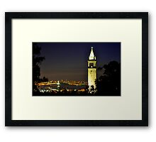 UC Berkeley Clock Tower @ Nite Framed Print