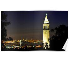 UC Berkeley Clock Tower @ Nite Poster