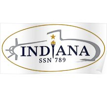 SSN-789 USS Indiana Crest Poster