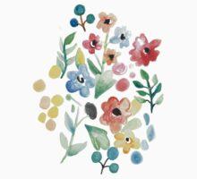 Flourish - Watercolor Floral Kids Tee
