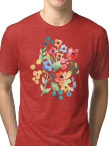Flourish - Watercolor Floral Tri-blend T-Shirt