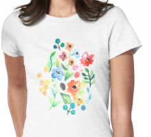 Flourish - Watercolor Floral Womens Fitted T-Shirt