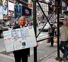 Man On Sidewalk by Maxkoumo