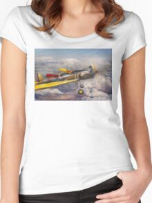 Flying Pig - Plane -The joy ride Women's Fitted Scoop T-Shirt