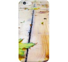 Selective focus on fallen autumn maple leaves closeup iPhone Case/Skin