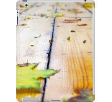 Selective focus on fallen autumn maple leaves closeup iPad Case/Skin