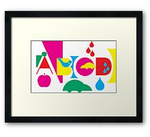Graphic ABC Framed Print