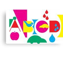 Graphic ABC Canvas Print