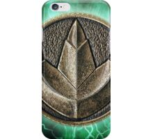 MMPR Green Ranger Power Coin iPhone Case/Skin