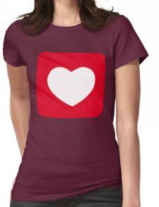 Love Heart T-shirt Womens Fitted T-Shirt