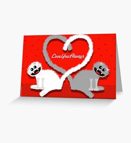KITTENHEART Greeting Card
